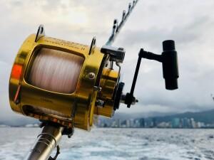 Et fiskehjul i den helt tunge klasse, klar til tun